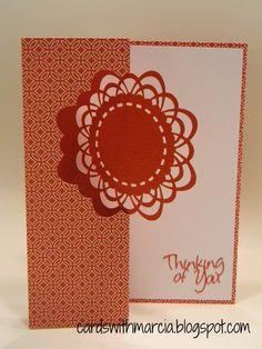 Creative Cards: Artfully Sent Thinking of You Swing card