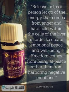 Release helps a person let go of the energy that comes from anger and hate held within the cells of the liver in order to create emotional peace and well-being. Freedom comes from being at peace rather than from harboring negative emotions. Essential Oils For Babies, Essential Oils 101, Young Living Essential Oils, Essential Oil Blends, Oils For Life, Essential Oil Companies, Healing Oils, Young Living Oils, Negative Emotions