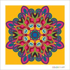 A #mandala I painted in #colorfy