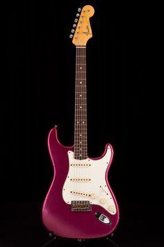 Fender Custom Shop Master Built 1965 Ash Strat Relic Purple Metallic by Paul Waller Guitar Power Chords, Music Guitar, Guitar Amp, Ukulele, Fender Stratocaster Red, Fender Guitars, Bass Guitars, Purple Guitar, Fender Custom Shop