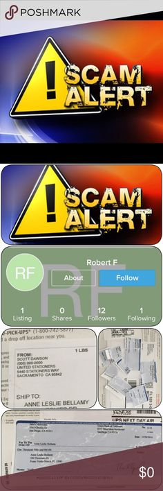 """😈😈BEWARE FIR SCAMMERS😈😈 I made the worse mistake I trusted someone...off PM.. big Mistake! I am selling some clothing for my Aunty because she needs some extra cash.. This person contacted me asking to email them (please see all attachments) the only reason I did was because I thought he had many questions and was new to Poshmark """"note"""" just joined in December.. anyway look at the emails after the his second email I told him I was not comfortable selling off of PM however he stated he…"""