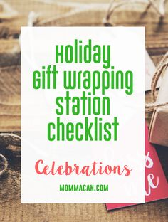 Holiday Gift Wrapping Station Checklist, grab this list to find out what items you need to successfully wrap gifts this holiday season.