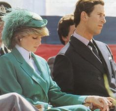 June 24, 1983: Prince Charles & Princess Diana at the opening of the St John's Anniversary Celebrations on St John's Day at Canada Games Stadium, Newfoundland. (Day 11)