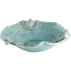 Pier One Gingko Leaf Bowl - Aqua ($100) ❤ liked on Polyvore