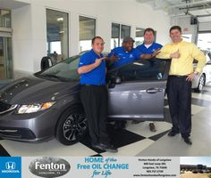 Congratulations to Jeff Mcmichael on your #Honda #Civic purchase from Jose  Valenzuela at Fenton Honda of Longview! #NewCar