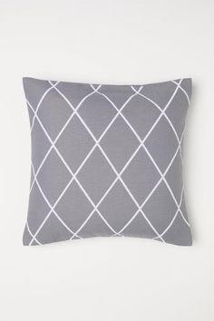a10a035a H&M Jacquard-weave Cushion Cover - Gray
