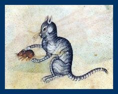 Cat & Mouse from Luttrell Psalter (Bitish Library) by mpt.1607, via Flickr