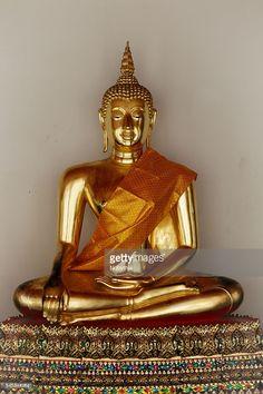 Golden Buddha statue at Wat Pho Temple, Bangkok, Thailand