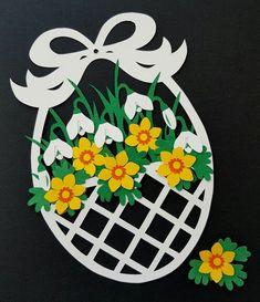 Model fra min bog :Påsken i papir, pynt og perler Paper Flowers Craft, Flower Crafts, Paper Crafts, Valentine's Day Crafts For Kids, Mothers Day Crafts, Art N Craft, Easter Crafts For Kids, Perler, Spring Crafts