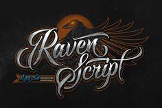 Raven Script by Mikrojihad Typography on @creativemarket