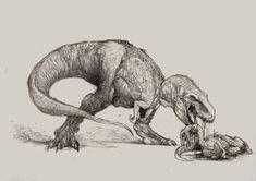 Rex is hungry. by Zombiraptor on DeviantArt Ant Drawing, Dinosaur Drawing, Dinosaur Art, Drawing Sketches, Prehistoric Wildlife, Prehistoric Creatures, Dinosaur Tattoos, Jurassic World Dinosaurs, Devian Art