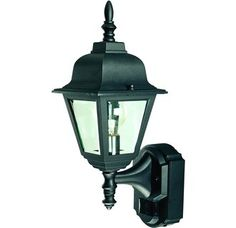 View the Heath Zenith SL-4191-BK-A 1 Light 180 Degree Motion Activated Country Cottage Decorative Security Wall Sconce, Black with Clear Beveled Glass at Build.com. 49