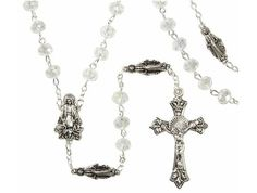 Beautiful Marian rosary with crystal beads and . The rosary is unique and…