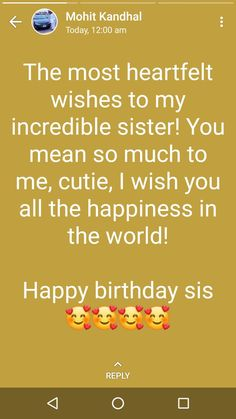 Birthday quotes for best friend bestfriends sisters 35 new Ideas Birthday Wishes Reply, Happy Birthday Wishes Bestfriend, Happy Birthday Quotes For Friends, Happy Birthday Wishes Cards, Sister Birthday Quotes, Best Birthday Wishes, Happy Birthday Sister, Happy Birthday Status, Sister Quotes