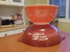 Autumn Harvest 444 cinderella mixing bowl & 403 nesting bowl