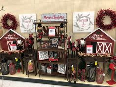 Farmhouse Christmas Decor, Rustic Farmhouse Decor, Christmas Crafts, Merry Christmas, Christmas Decorations, Hobby Lobby Decor, Comfort And Joy, Tis The Season, All Things Christmas
