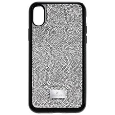 Swarovski Glam Rock Smartphone Case with integrated Bumper, iPhone® X, Grey, 5392053 | Duty Free Crystal | Duty Free Crystal