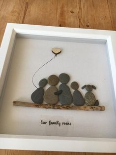 Pebble picture family handmade in Scotland, pebble art, can customise any. - Pebble picture family handmade in Scotland, pebble art, can customise any family combo - - ? Kids Crafts, Diy And Crafts, Craft Projects, Arts And Crafts, Family Crafts, Family Art Projects, Creative Crafts, Stone Crafts, Rock Crafts