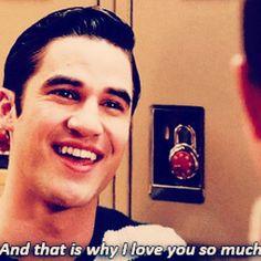 """Blaine Loves Kurt... #klaine #kurthummel #BlaineAnderson #gleegoodbye"""
