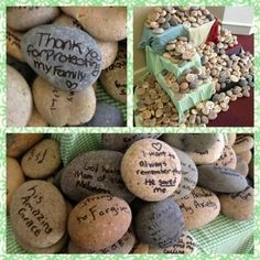 Day of Prayer Rock Activity (leading up to it)....Print messages to each other