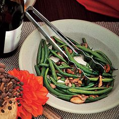Buttered Green Beans and Mushrooms | MyRecipes.com #myplate #vegetables
