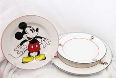 Mickey Mouse & Co. Disney Plates/Bowl by WrappedRoundMyFinger