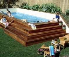 Above ground pool landscaping :0)