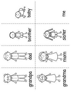 ESL Young Learners Family Flashcards by Kat Teacher's ESL Materials for Young Learners Preschool Family Theme, Family Crafts, Preschool Classroom, Preschool Worksheets, Preschool Learning, Learning Activities, Preschool Activities, Preschool Printables, Family Activities