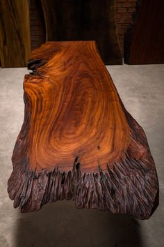 This live edge slab was submerged underwater for decades... www.reduxwood.com for more details. Our wood is just different!