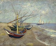 """Vincent Van Gogh -   """"Bateaux de pêche sur la plage aux Saintes Marie de la Mer"""" -"""