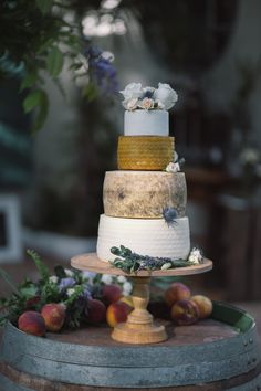 Cheese Tower Wedding Cake | Chic Southern Spain Wedding at Casa Rosa | Planned & Styled by Rachel Rose Weddings | Radka Horvath Photography | http://www.rockmywedding.co.uk/claire-lenny/