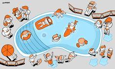 Infográfico sobre os perigos na piscina