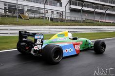 Benetton F1 Tracking Shot At Brands Hatch Race Circuit Shot By Me