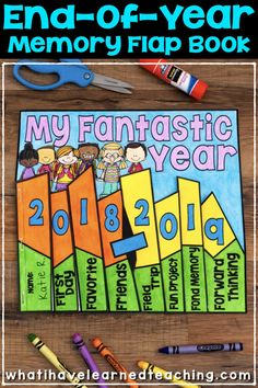 This End-of-the-Year Memory Book is perfect for the last weeks of the school year. A fun memory book craftivity to use in your classroom. End Of Year Activities, Classroom Activities, Classroom Ideas, End Of School Year, Phonics Worksheets, Classroom Community, Memory Books, School Counseling, Future Classroom