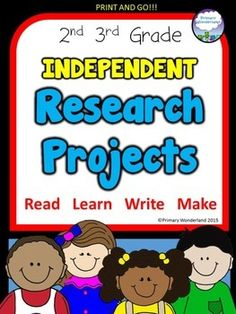 Over 20 independent projects children can complete with books on high interest topics from the school or classroom library...or the INTERNET! Perfect authentic learning for early finishers!