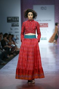 Anita Dongre Show at Wills Lifestyle India Fashion Week 2014 - Vega Fashion Mom India Fashion Week, Lakme Fashion Week, Fashion Show, Pakistan Fashion, Fashion Styles, Women's Fashion, Pakistani Outfits, Indian Outfits, Indian Designer Wear