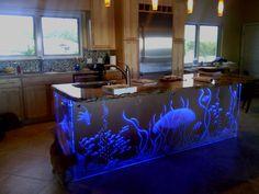 Kitchen Island Glass Wrap by PerrysDecorativeGlas on Etsy https://www.etsy.com/listing/233979787/kitchen-island-glass-wrap