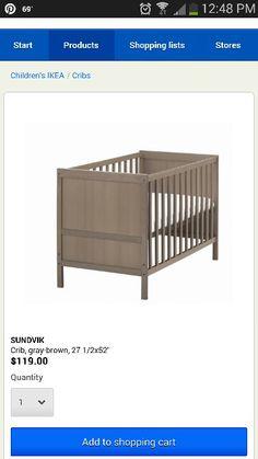Ikea Crib gray/brown