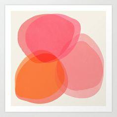 Cocoon 1 Art Print by Garima Dhawan - $18.00 pink orange