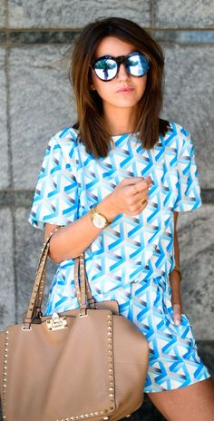 Cameo Blue Loose Fit 3d Print Short And Top Suit by Lovely Pepa