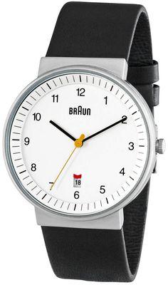 Braun White Date Leather
