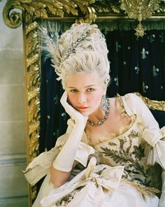 Marie Antoinette, as played by Kirsten Dunst.