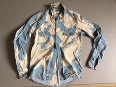 DRIES VAN NOTEN mens snap front bleach splattered snow washed denim shirt 48 | Clothes, Shoes & Accessories, Men's Clothing, Casual Shirts & Tops | eBay!
