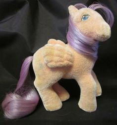 """Pretty So Soft North Star will guide your way!  #MyLittlePony #G1 #SoSoft #NorthStar #FreeShipping MY LITTLE PONY HORSE VTG G1 '86 North Star So Soft Pegasus Flocked Free Ship 5"""""""