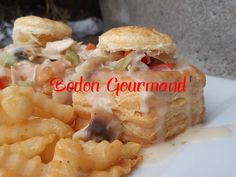 De bon vol-au-vent avec une sauce onctueuse et savoureuse. Vol Au Vent, Biscuit Oreo, Biscuits Graham, Sauce, Meat, Chicken, Ethnic Recipes, Food, Chili Con Carne