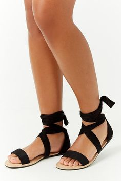 3dae958e7bd659 Strappy Wraparound Sandals    17.90 USD    Forever 21 Forever 21 Shoes
