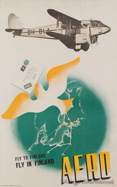 "Aero (Finnish Airlines) deHavilland Dragon Rapide ""Salama"" 1937-1947"