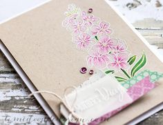 Debby Hughes - Lime Doodle Design - Clearly Besotted Stamps white embossing on craft, prismacolored pencils, patterned paper.