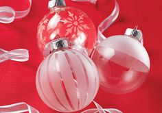 DIY Etched Glass Ornaments