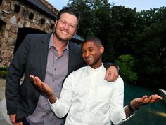 "That's what friends are for. Blake Shelton supports fellow ""The Voice"" judge Usher at his Usher's New Look foundation 15th anniversary celebration on July 30 in Atlanta"